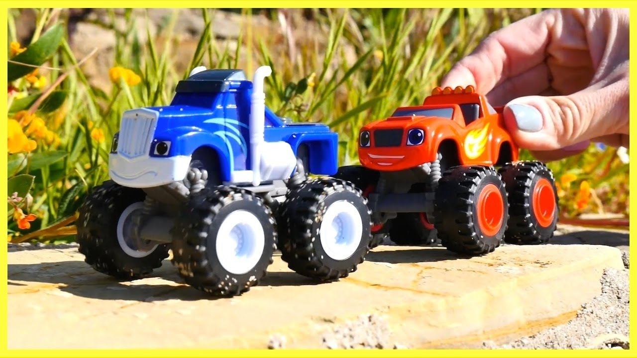 Stuck In Mud Monster Machines Race Toy Trucks In Mud Toy Cars