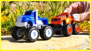 STUCK IN MUD! - Monster Machines Race! Toy Trucks in Mud! Toy Cars for Kids