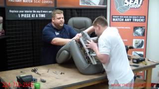 Video 95-99 Chevy/GMC Tahoe, Suburban, Pickup Driver Bottom Leather Seat Cover Install download MP3, 3GP, MP4, WEBM, AVI, FLV April 2018