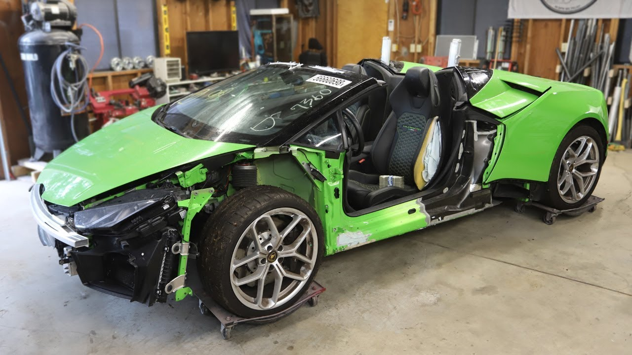 I Bought A Totaled Lamborghini Huracan From A Salvage Auction I M