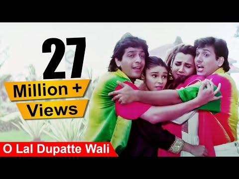 O Lal Dupatte Wali | 4K Video Song | Govinda Chunky Pandey | Aankhen