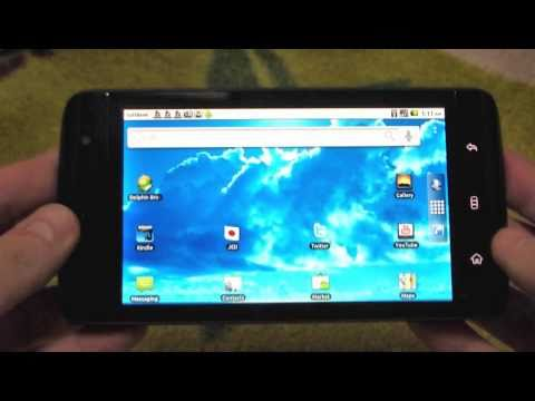 Dell Streak With Android 2.2 Froyo (Unofficial) Hands On