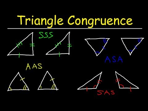 Triangle Congruence Theorems, Two Column Proofs, SSS, SAS, ASA, AAS Postulates, Geometry  Problems