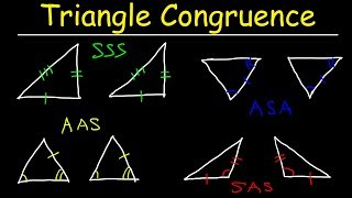Triangle Congruence Theorems, Two Column Proofs, SSS, SAS, ASA, AAS, Geometry Practice Problems thumbnail
