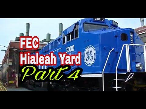 FEC Rare Look Inside Hialeah Yard Part 4 GE NextFuel 3000 Locomotive