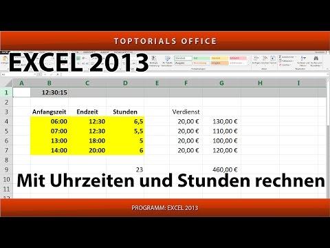 Mit Uhrzeiten Und Stunden Rechnen (Excel)