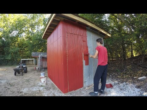 Building and Setting Up a Guinea/Goose Coop - Time Lapse