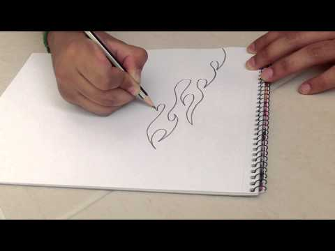 how to draw a fire basketball
