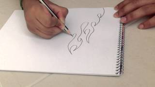 how to draw simple fire