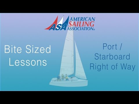Port Starboard Right Of Way an ASA Bite Sized Lessons