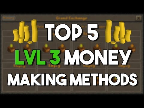 Top 5 Money Making Methods Possible At Level 3! - Oldschool Runescape Money Making Method [OSRS]