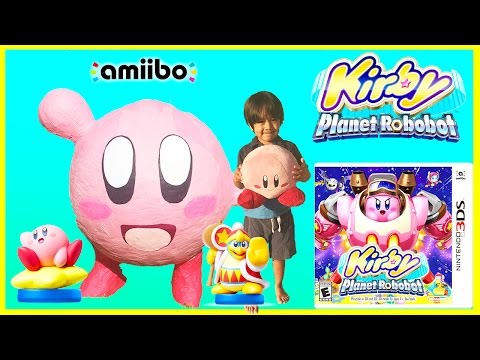 KIRBY PLANET ROBOBOT For Nintendo 3DS Giant Egg Surprise Opening Ryan ToysReview