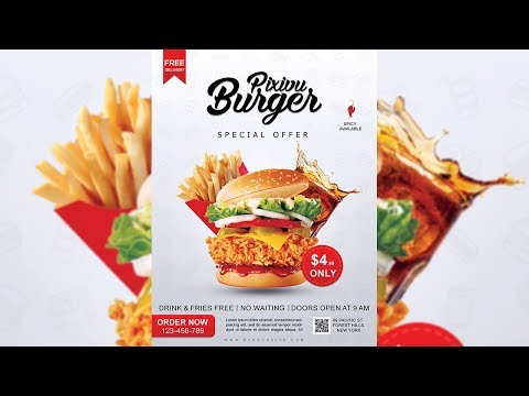 Burger Restaurant Flyer Design - Photoshop Tutorial thumbnail