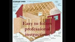 How To Build A Storage Shed | Wooden Shed Blueprints And Plans
