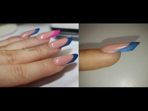 Russian Almond Nails ! Cum realizez o migdala r din acryl  si frenchul ! Almendra rusa uñas!