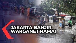 Jakarta Kebanjiran Diguyur Hujan Hitungan Jam, Warganet Ramai Berkomentar