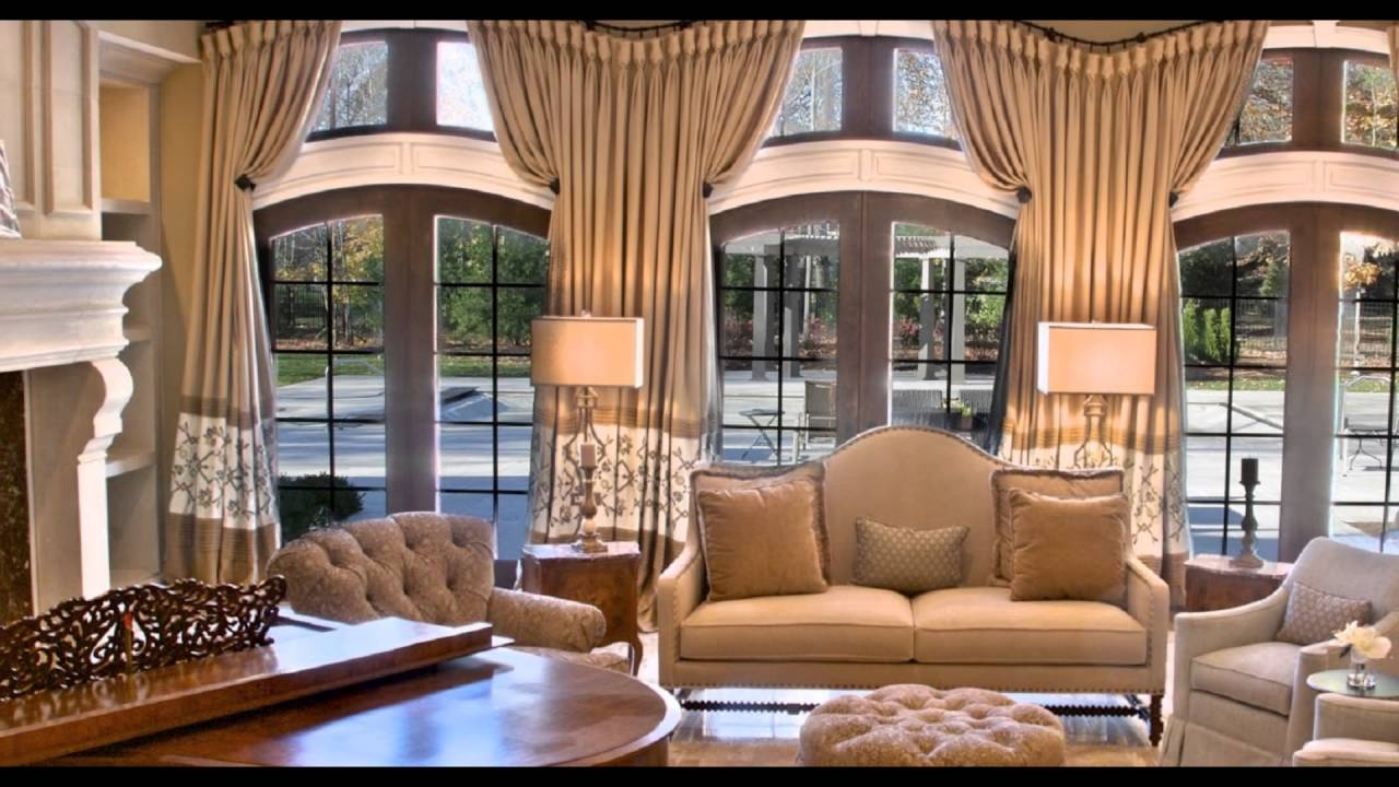 window treatments for arched windows - YouTube