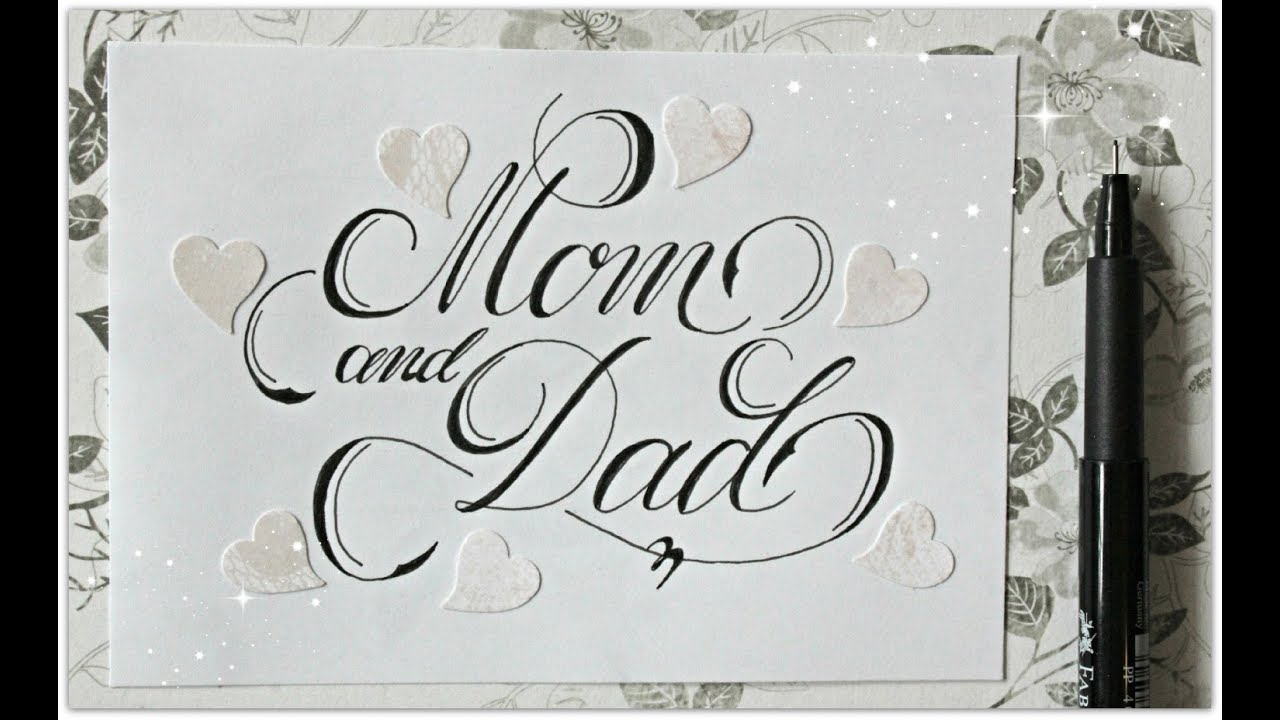 cursive fancy letters how to write mom and dad easy