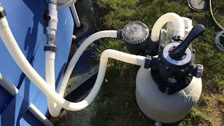 Polygroup Summer Waves Pool Upgrade to Intex Sand filter with unboxing.