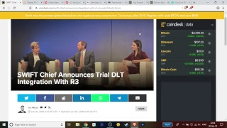 LIVE: Ripple/SWIFT/Corda/R3 Discussion, Sanctions, CBCDs And Bitcoin Price Movement