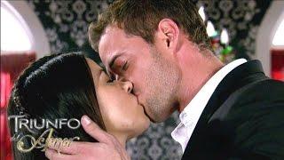 Triunfo del Amor  María Desamparada y Max se besaron por primera vez