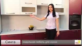 «Синга» модульная мебель для кухни(каркас: «Белый универсальный», профиль: «Синга (Крем)/Синга (Баклажан)» подробности на http://www.triya.ru., 2014-06-11T07:19:00.000Z)
