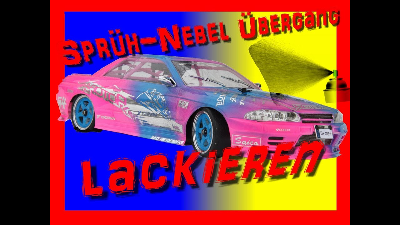 rc drift tutorial karosserie lackieren nebel bergang youtube. Black Bedroom Furniture Sets. Home Design Ideas