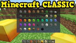 Minecraft CLASSIC - Features You Don