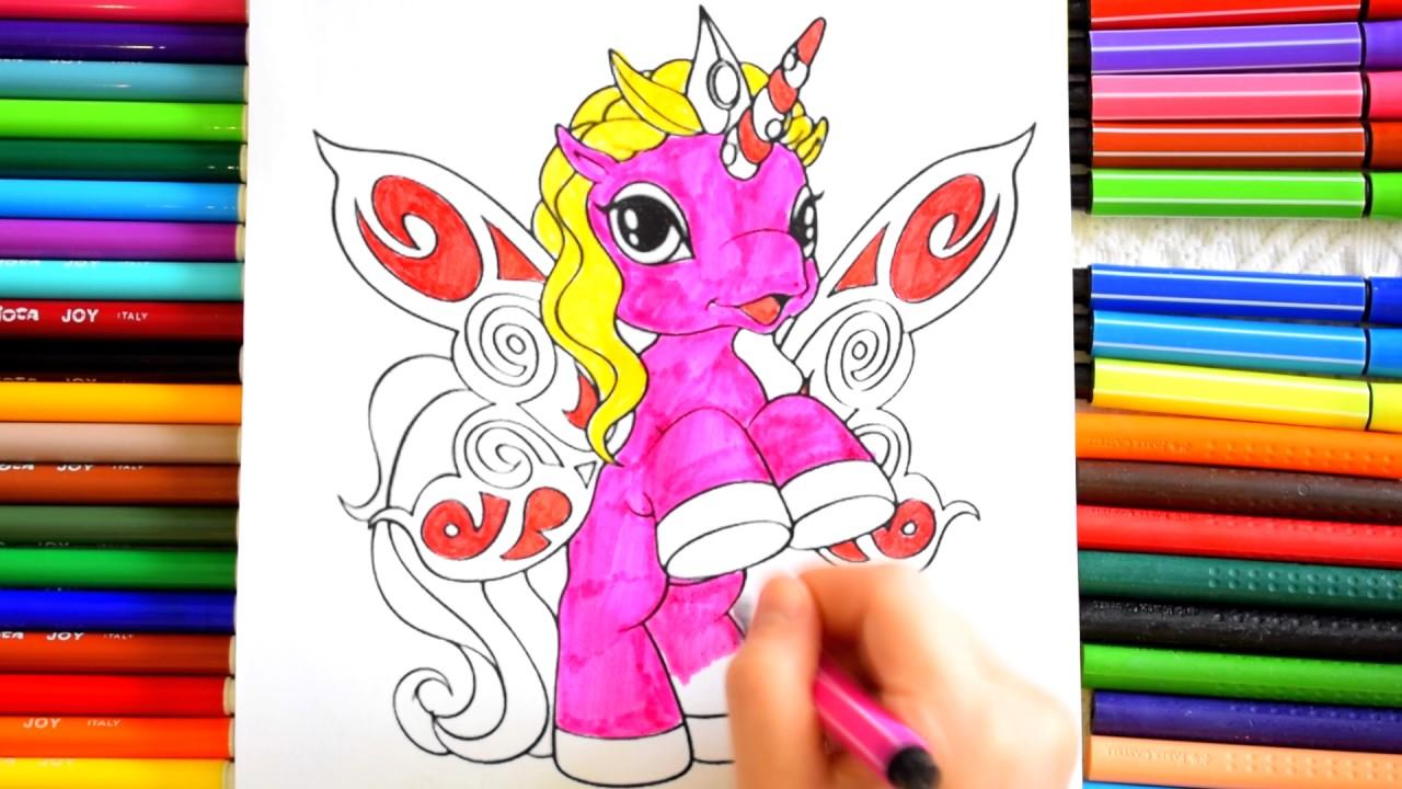 Единорог Филли раскраска с блестками Unicorn Filly ...