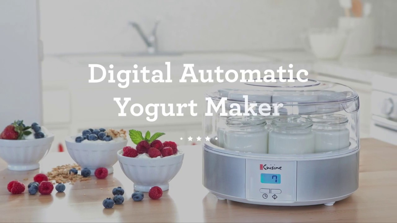 Euro Cuisine Digital Automatic Yogurt Maker Ymx650 Youtube
