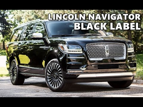 2018 Lincoln Navigator Black Label Youtube