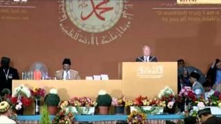 Richard Gates, Mayor of Waverley at Ahmadiyya Muslim Jalsa Salana UK 2011