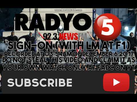 (DWFM-FM) RADYO5 92.3 NEWS FM SIGN-ON
