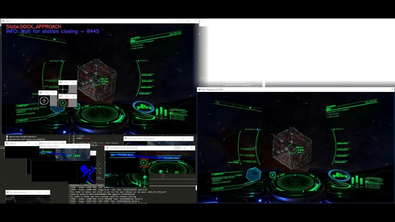 Autopilot for Elite Dangerous using OpenCV and thoughts on
