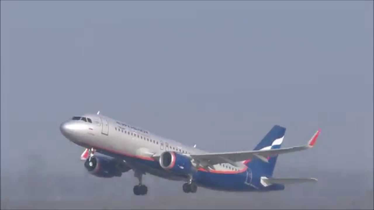 airbus a320 aeroflot sharklets takeoff at dsseldorf youtube