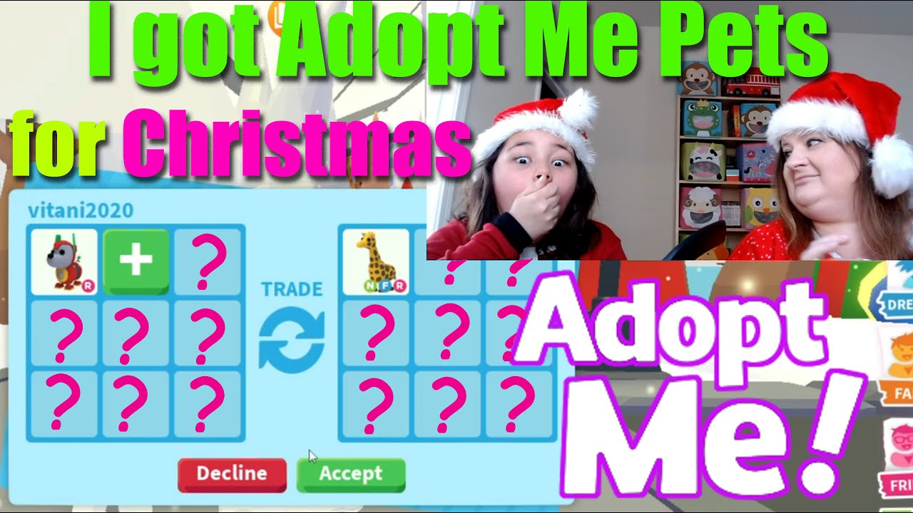 Adopt Me Christmas Update and Trading Pets   I got Adopt Me Pets for Christmas