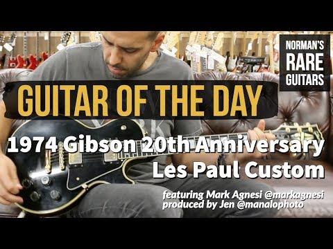 Guitar of the Day: 1974 Gibson 20th Anniversary Les Paul Custom   Norman's Rare Guitars