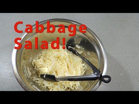 Balkan Fresh Cabbage Salad - Kupus Salata Recipe - cook with K.P EP31