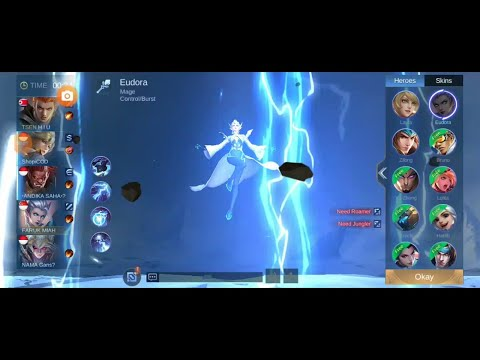 mobile legends game, new gamer,   hero Eudora |