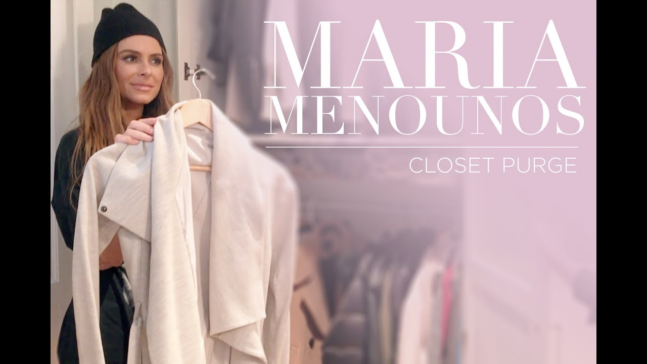 MILLION DOLLAR CLOSETS: Closet Purging With Maria Menounos