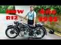 BMW R12 de 1935 | Motodiógenes Rider MotoVlog | La Tatarabuela a tope. Test sidecar motor sin culata