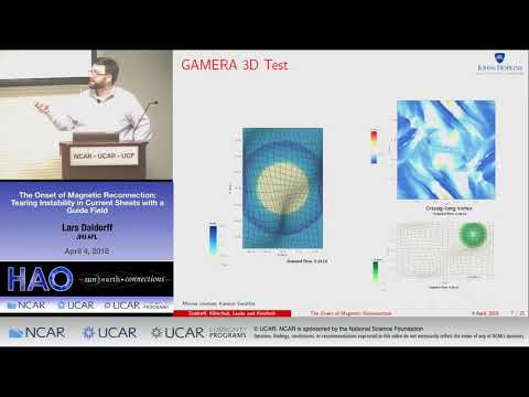 Lars Daldorff | JHU APL | The Onset of Magnetic Reconnection