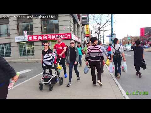 [4K] 2018 Chinatown Toronto Walking Tour Ontatio Canada