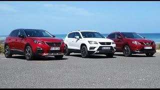 2017 Peugeot 3008 vs Seat Ateca vs Nissan Qashqai [PART. 1/3] : intérieur et habitabilité