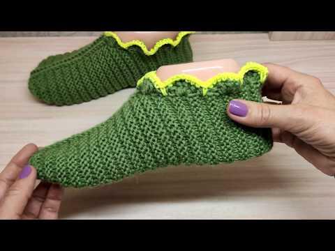 Следки зеленые спицами