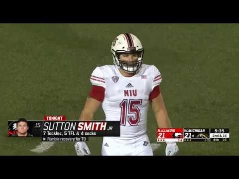 size 40 be0b1 4b58f NIU's Sutton Smith Sack #13 vs Western Michigan 11-20-2018