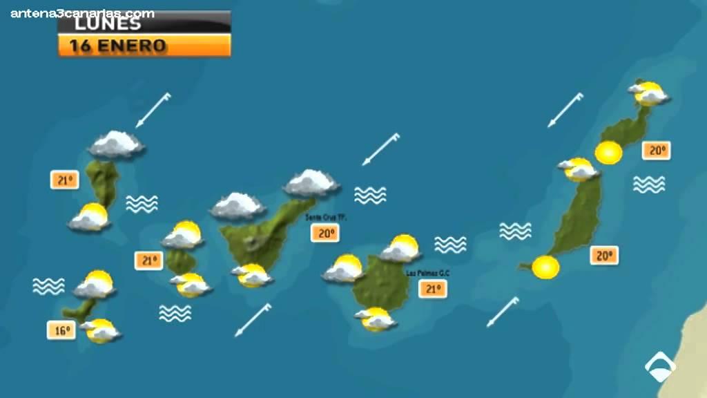 El tiempo en canarias 16 enero 2012 youtube for Temperatura en otura