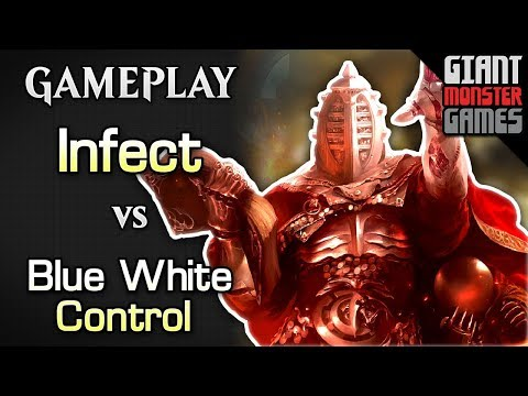 Budget Infect -vs- Blue White Control - MTGO Gameplay #01 - 동영상