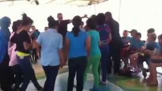 Arabs and Jews dance in the sea of galilee