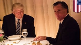Trump Romney dinner: President-elect Donald watches Romney eat crow all night long - TomoNews